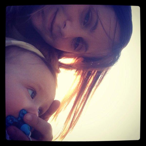 Avec Maman au parc d'Alleur