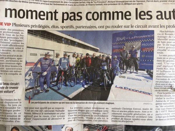 Jeudi 8 Février ( prologue tour la Provence sur le circuit du Castellet)