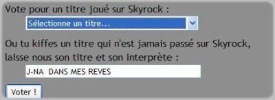 VOTE POUR QUE J-NA PASSE SUR SKYROCK