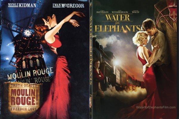 Affiches De l'eau pour les éléphants et Moulin Rouge