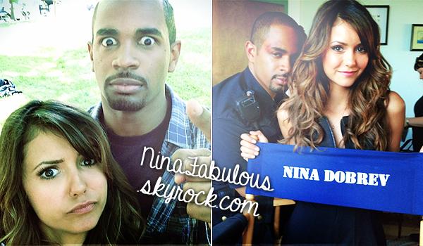 NinaFabulous.skyrock.comNina accompagnée de Damon Wayans Jr sur le tournage de la new film/série « Let's Be Cops » à Atlanta !