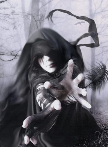 L'ange noir.