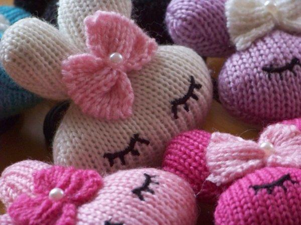 """Adorables élastique très """" Cute """" un lapin tricoté, trop joli !"""