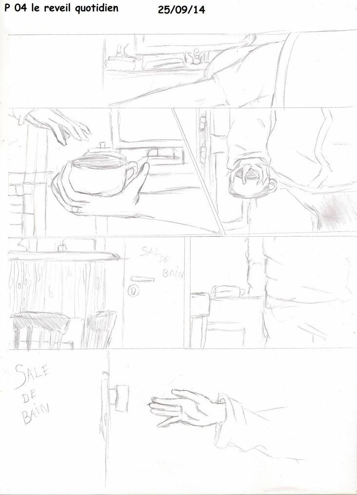 """""""le reveil quotidien"""" 5 premier page en version grossier et sen parole U_U"""