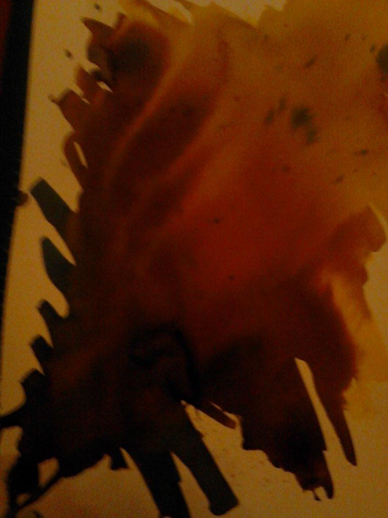 un teste avec des vielle peinture trouver dan mon grenier