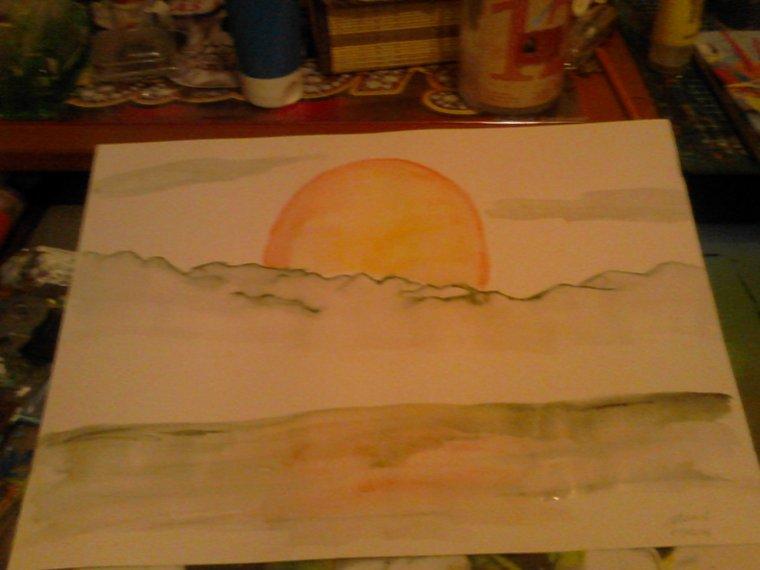 soleil de montagne