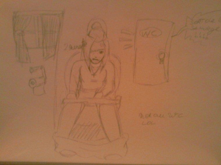 8 dessins me représentant dans des situations vécue ^^