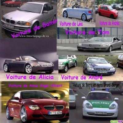 Les voitures.