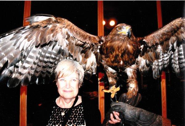 photo de vacance  2014 (les canaries)moi avec un aigle