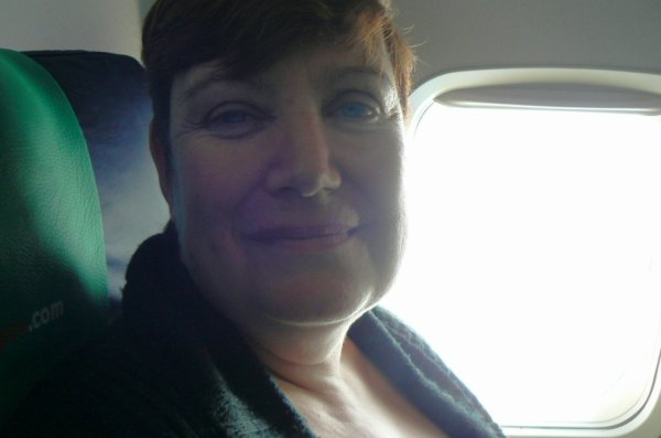 photo de vacance dans l'avion