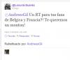 Andres Gil fait un RT pour ses fans de Belgique y France ;D