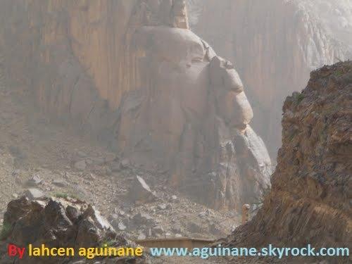 Aguinane (قرد منقوش على جبل جنوب المغرب تحديدا في واحة أكينان )
