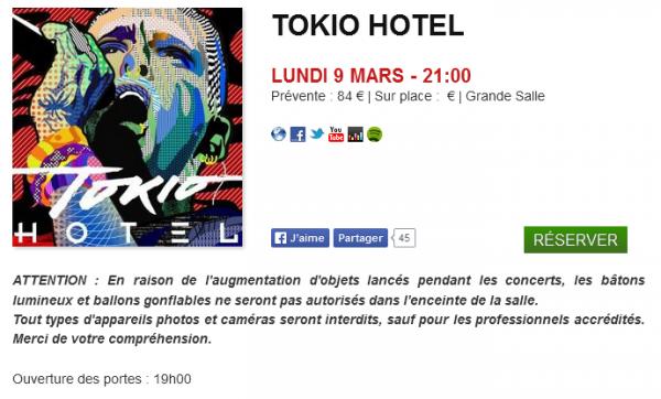 [FEEL IT ALL WORLD TOUR] Attention #Aliens ! Le Moulin (Marseille) a interdit les bâtons lumineux et les ballons dans la salle, ainsi que les appareils photos.