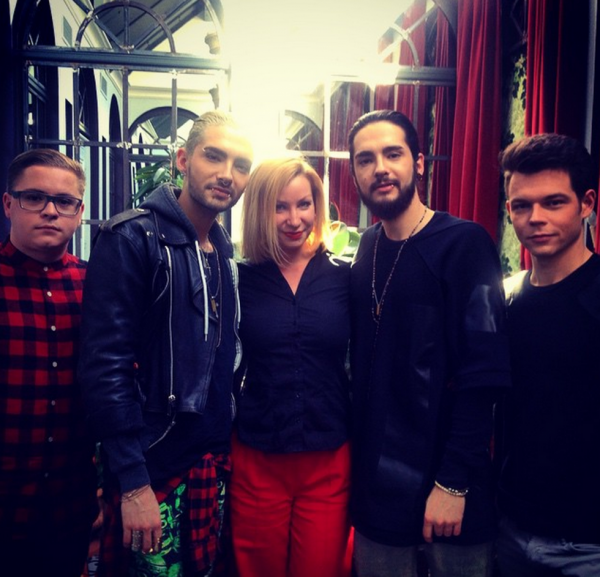 [NEW PIC] Tokio Hotel with Violetta in Paris, France [11.03.2015]