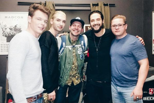 14 Mars, 2015 Francfort  - Backstage  avec benbirkl sur instagram
