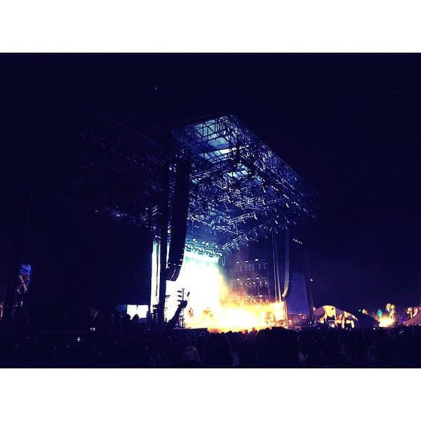 Bill instagram : Florence the Machine# the best#coachella