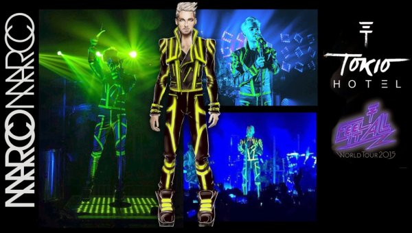 "Bill Kaulitz of Tokio Hotel in ""‪‎Marco Marco""‬ for the ""Feel It All"" world tour! [March 2015]"