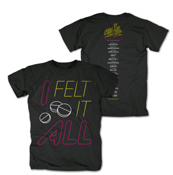 [Merchandise Update] Tokio Hotel - Feel It All Tour 2015 T-Shirt [14.04.2015]