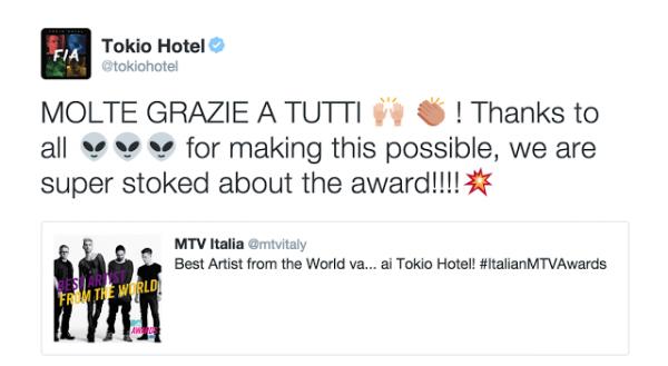 tokio hotel twitter :