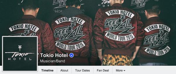 tokio hotel facebook et twitter : nouvelle photo de profil