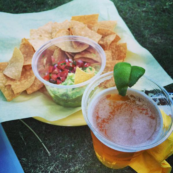 Bill instagram : my lunch for the past 9 days #allineed #guac #pacifico