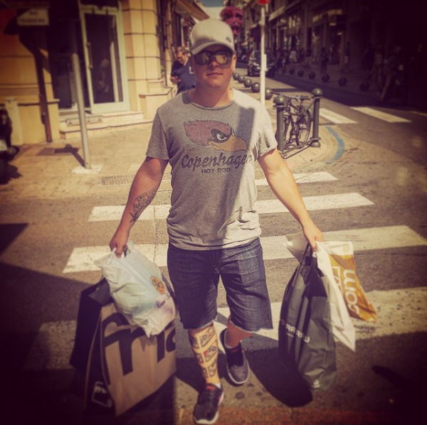 "Gustav instagram : [30.06.2015] - ""Merci Cannes! Merci France! I am the shopping king!"""