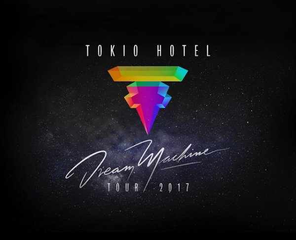 TOKIO HOTEL NOUVELLES DATES DE TOURNEE 2017 :  First 'Dream Machine' World Tour 2017 Dates are HERE! Brand new VIP upgrades will be announced soon.