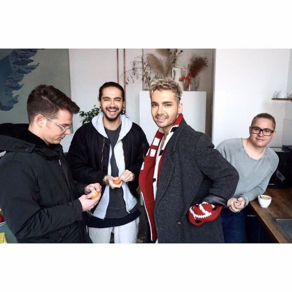 tokio hotel instagram : The gang united again @ campaign shooting! #dreammachine