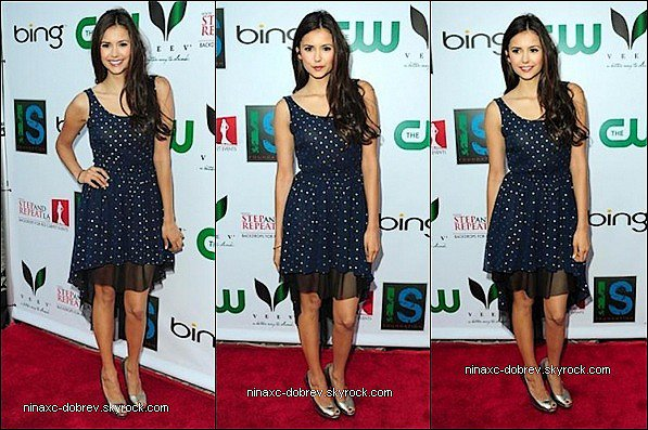 21.04.12:  Nina est allée à la soirée organisée par Ian Somerhalder « The Influence Affair » pour I.S.F.