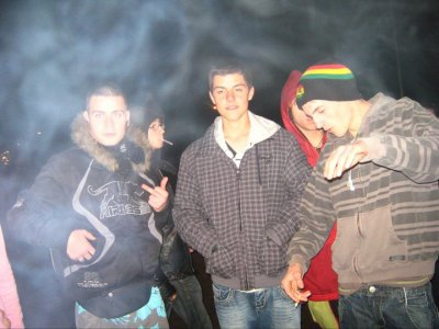 Le coin fumeur du lycée