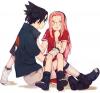 Je m'appelle Sakura Haruno. Ce que j'aime... enfin... celui que j'aime c'est... je ne sais pas si je peux dire mes rêves pour l'avenir... il est un peu tôt... Kyaaa !!! En tout cas, je déteste Naruto !