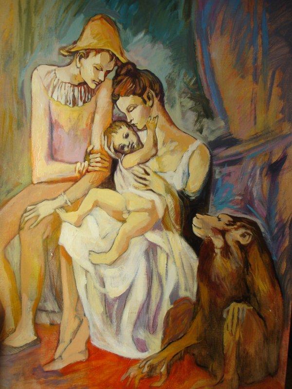 114 ) - COUPLE D'ARLEQUIN ET L'ENFANT -