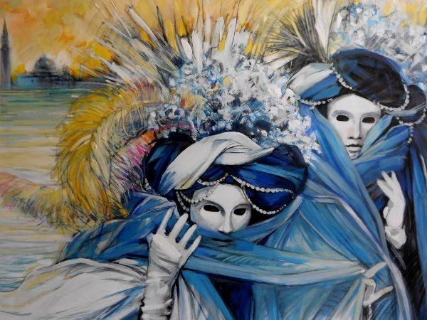 Janvier 2013 carnaval de venise toiles dessins - Coloriage carnaval de venise ...