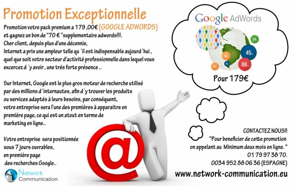 Promotion Exceptionnelle ADWORDS+BONO