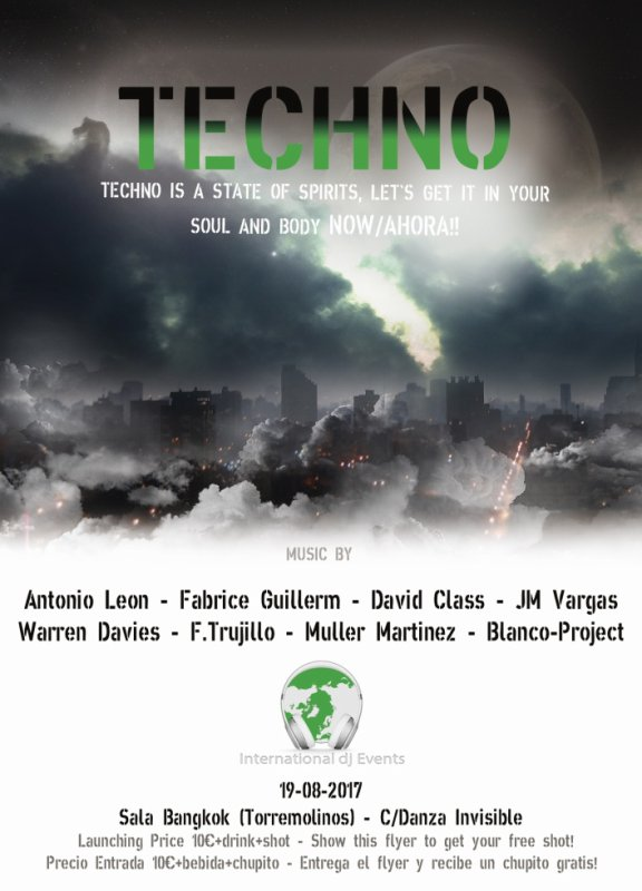 Techno Sala Bangkok  19 de Agosto 2017 23h
