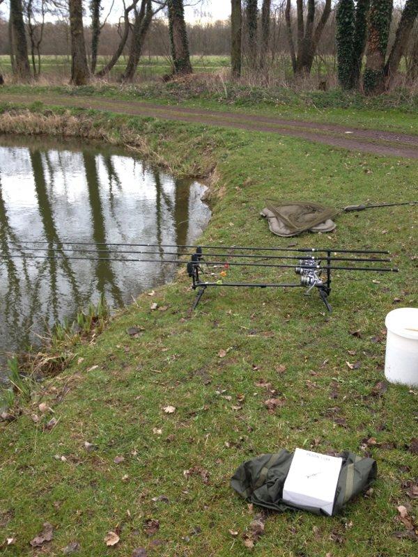 Une petite pêche rapide et un capot au étang de wavrin