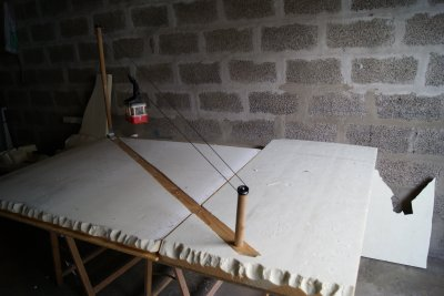 construction de la plate forme pour le village 2010