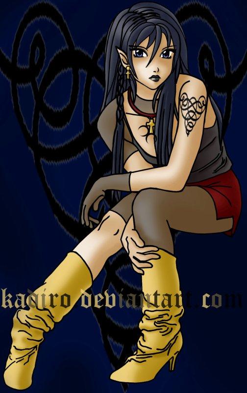 - x - - - x - Gothic Lolita - Black Elder sister - x - - - x -