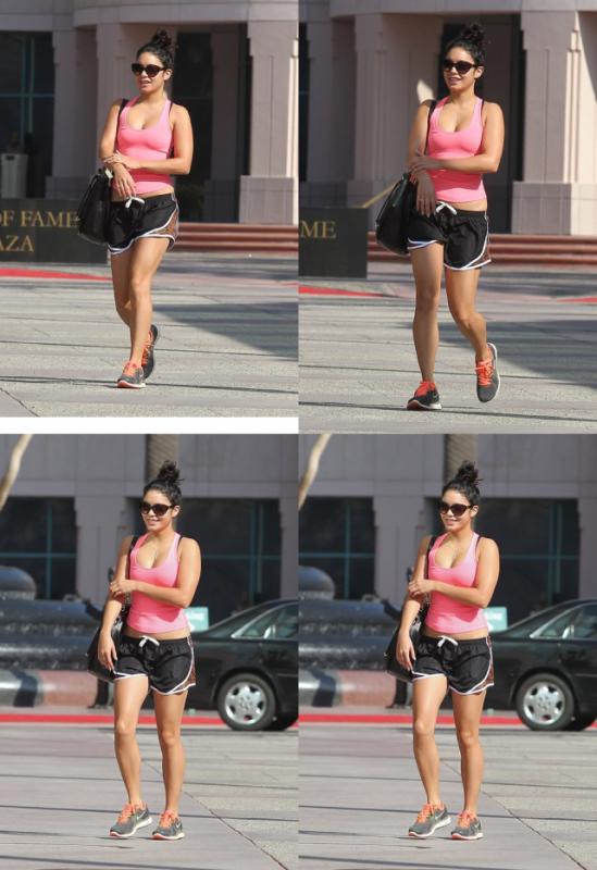 Vanessa quittant sa deuxième séance de sport du jour le 11/09/2012