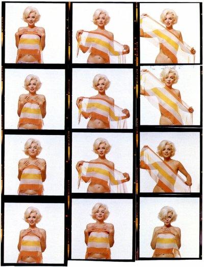 Marilyn-séance avec le photographe Bert Stern fin juin 1962