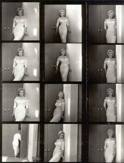 planche contacte pour Life Magazine par Phillipe Halsman en 1952