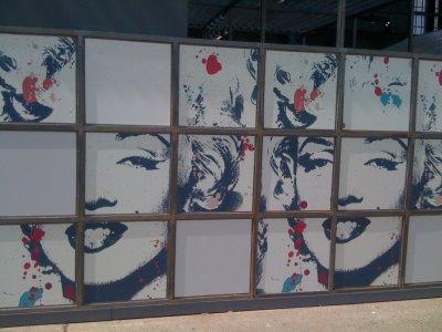 Marilyn au salon Bread and Butter à Berlin la semaine dernière....