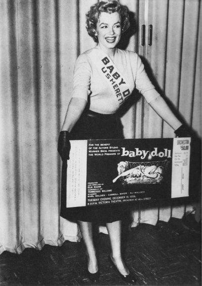 Promotion pour Baby Doll à l'actor studio-NY le 18 decembre 1956