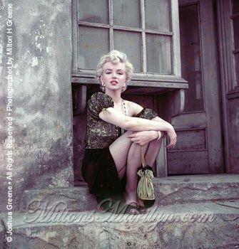 En avril 1956, Marilyn par Milton Greene-promo de Bus Stop-