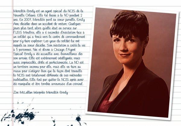 Description des Personnages NCIS : Nouvelle Orléans ♥
