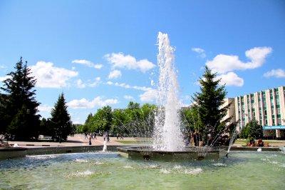 Fontaine sur l'enceinte de l'Université