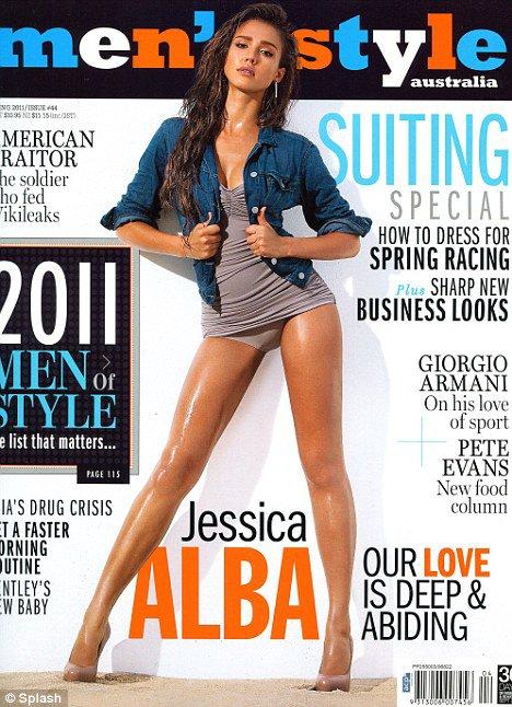 Jessica pose pour le magasine Men' Style