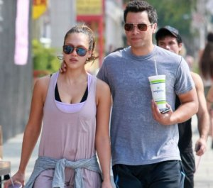 Jessica Alba & Cash Warren font un jogging ♥