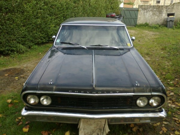ma nouvelle trouvaille une chevrolet chevelle malibu ss 1964, avec un bon 327 preparer, voiture avant/ voiture fini