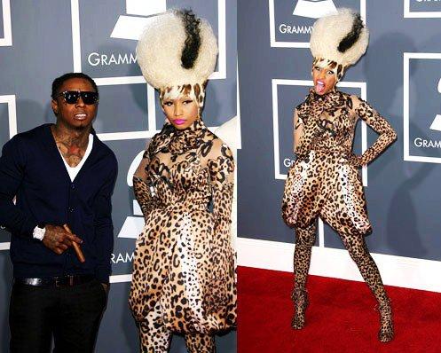 Nicki aux Grammy Awards en compagnie de Lil Wayne .